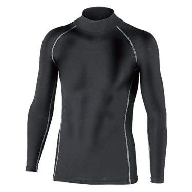 みんなに愛されるおたふく手袋 ボディータフネス 保温 コンプレッション パワーストレッチ 長袖 ハイネックシャツ JW-170 ブラック M