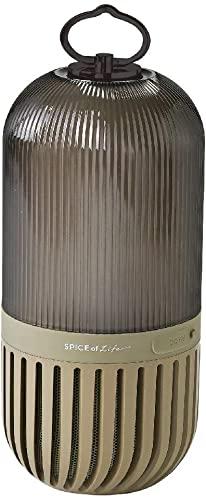 ラクしてSPICE OF LIFE(スパイス) ゆらぎカプセルスピーカー カーキ Bluetooth 防塵 防水 LED 充電式 CS2020KH