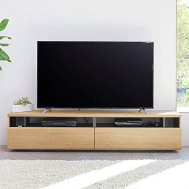 逆転の発想から生まれた白井産業 大型テレビ台 50から60インチ対応  ラモリア RAM-4018H NA ナチュラルブラウン 幅180cm