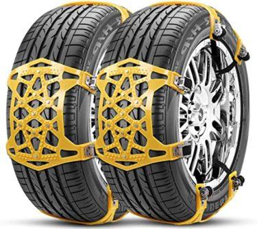 タイヤチェーン 非金属 ジャッキアップ不要 165-265mm対応、これはいい